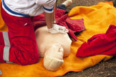 First aid training — Stockfoto