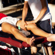 Stock Photo: Sports massage