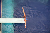 Springboard diver — Stock Photo