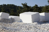 Marble blocks — Stock Photo