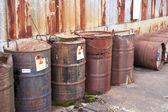 Abandoned radioactive waste — Stock Photo