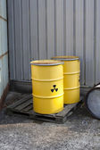 Abandoned radioactiv waste — Stock Photo