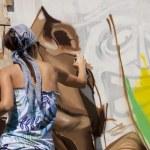 Female graffiti artist — Stock Photo #24447551