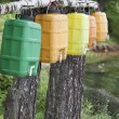 Water canisters — Stock Photo