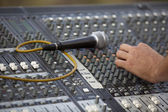 Adjusting of sound board — Stock Photo