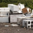 Appliances at the landfill - Stock Photo