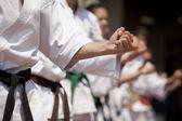 Karate training — Stock Photo