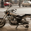 Stock Photo: Motorcycle without wheel