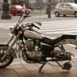 Motorcycle without wheel — Foto Stock