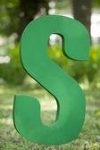 Zelené písmeno s — Stock fotografie