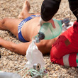First aid for drowning — Stock Photo