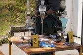 Laboratorio di metanfetamine illegale — Foto Stock