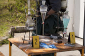 Laboratório de metanfetamina ilegal — Foto Stock
