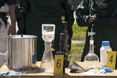 Illegal drug laboratory — Stockfoto