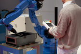 Industrial robot arm — Stock Photo