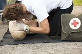 CPR training — Stock Photo