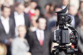 Video camera for news TV broadcasting — Stock Photo