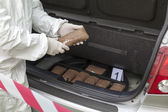 Drug smuggling — Stock Photo