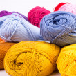 Colorful skeins of Yarn — Stock Photo