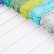 Colorful skeins of Yarn — Stock Photo #27192915