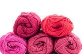 Colors of yarn thread — 图库照片