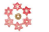 Weihnachtsdekoration, Lebkuchen-cookies — Stockfoto