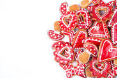 Christmas decoration, gingerbread cookies — Stock Photo