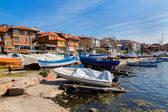 Boats on the coast of Sozopol — Stock Photo
