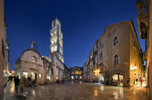 Peristyle (Peristil), Split, Croatia, night view — Stock Photo