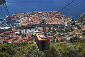 Cable Car above the old town Dubrovnik — Stock Photo
