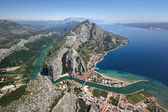 Old pirates town Omis, Croatia — Stock Photo