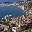 Aerial view, Split city center, old town with Diocletian palace, Croatia — Stock Photo