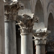 Stock Photo: Three corinthicolumns on Peristyle in Diocletian's palace