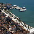Town Split, Croatia, aerial view of city center — Stock Photo