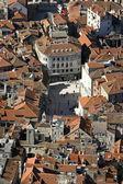 Split, Croatia, aerial view of 's square — Foto de Stock
