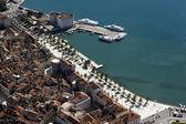 город сплит, хорватия, аэрофотоснимок центр города — Стоковое фото