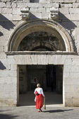 North entrance ( Golden gate ) of Diocletian palace, Split Croatia — Photo