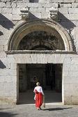 North entrance ( Golden gate ) of Diocletian palace, Split Croatia — Foto de Stock