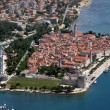 Aerial view of Trogir old unesco town — Stock Photo