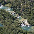 Krka waterfall, National park Krka - Stock Photo