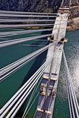 Bouw van betonnen boog brug — Stockfoto