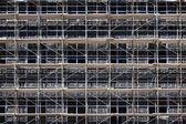 Scaffolding during construction — Foto Stock