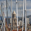 Stock Photo: Bell Tower and masts