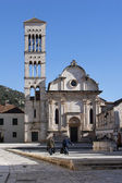 Cathedral of St. Stephen in Hvar — Stock Photo