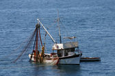 Fishing boats at work — Foto Stock