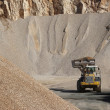 Heaps of stone aggregate for road construction — Stockfoto