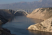 Bridge over Maslenica gorge — Foto Stock