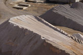 Heaps of stone aggregate for road construction — Stock fotografie