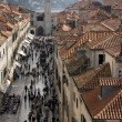 Stock Photo: Placor Stradun is central street in Dubrovnik