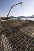 Concreting new cruiser terminal in the harbour — Stock Photo